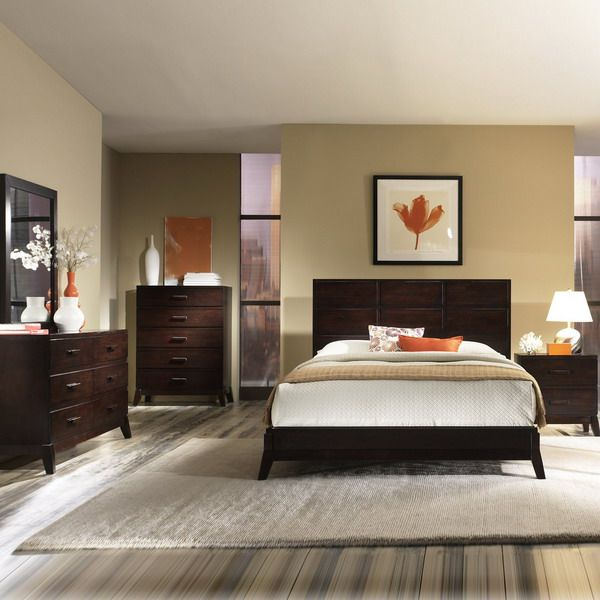 Master Bedroom Interior Design Ideas With Dark Wooden Furniture Master Bedroom Interior Design Bedroom Wall Colors Master Bedroom Furniture