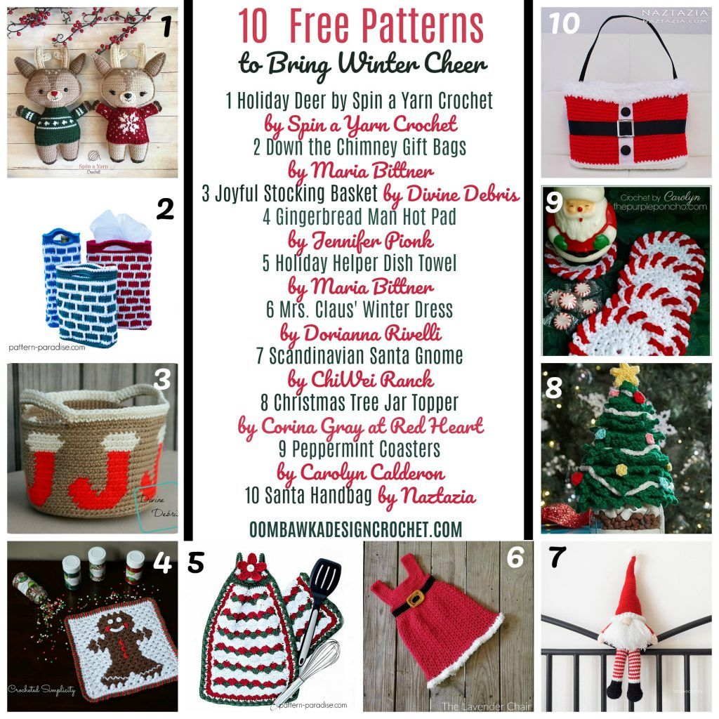 10 Free Patterns to Bring Winter Cheer