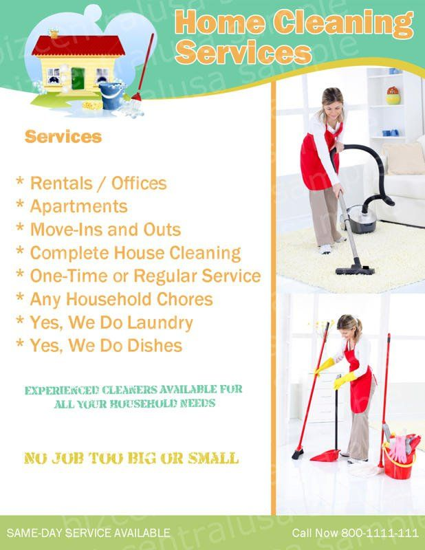 Cleaning Flyers Ideas - Bing Images moms stuff Pinterest - house cleaning flyer template