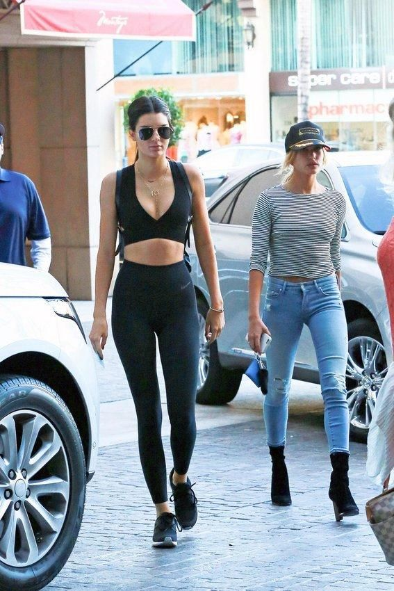 07354c9697808c Kendall Jenner s workout style has inspired us to hit the gym—get her  outfit! Take the plunge.