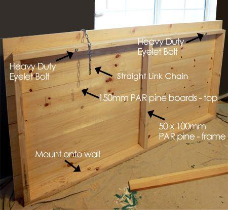 Loft bed hanging bunk bed suspended bed hanging bed diy for Suspended bed plans