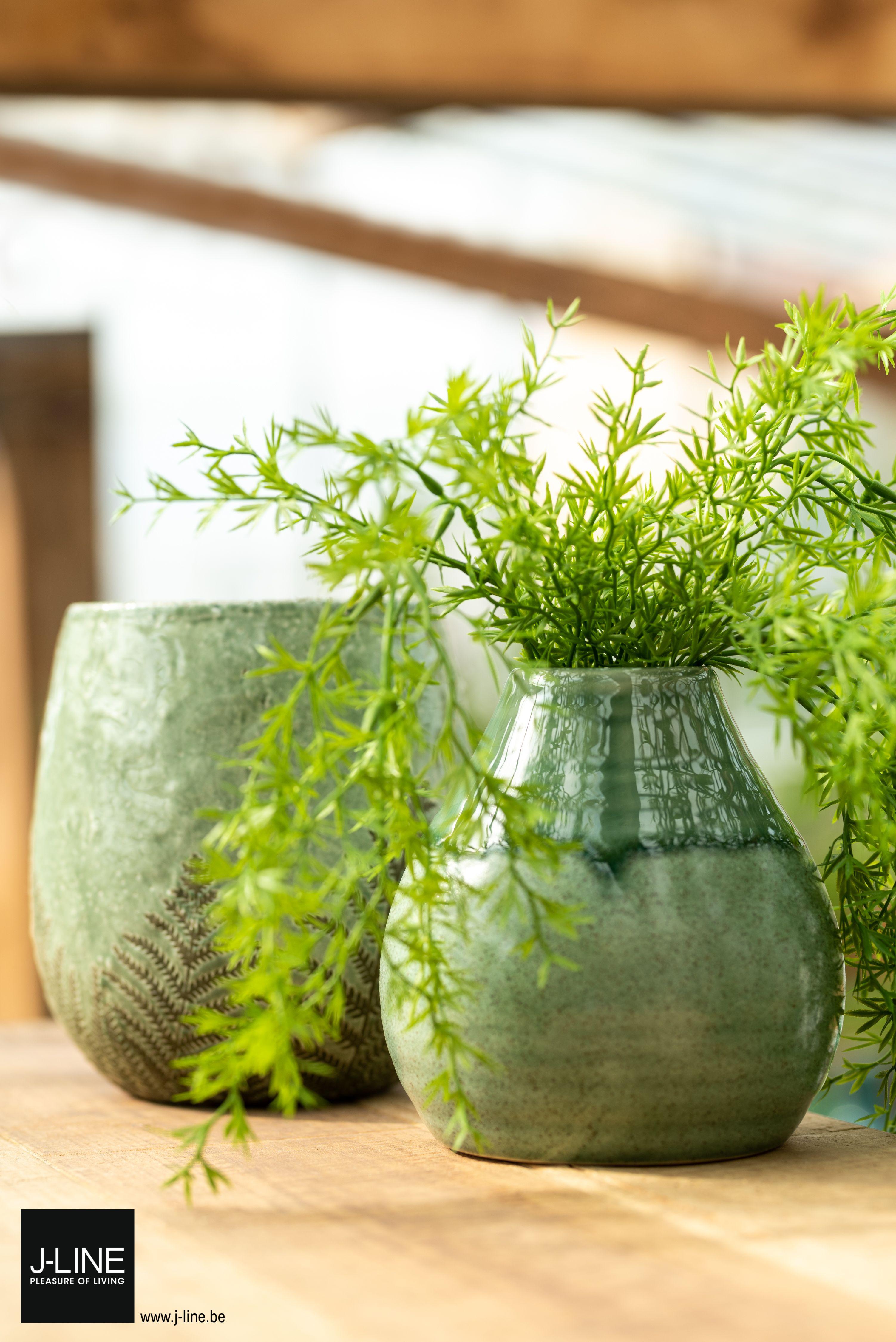 Jline Decoration Tropical Lagoon Spring Summer New Collection Ss2019 Flowerpot Vase Green Pleasureofliving Jlinedecoration