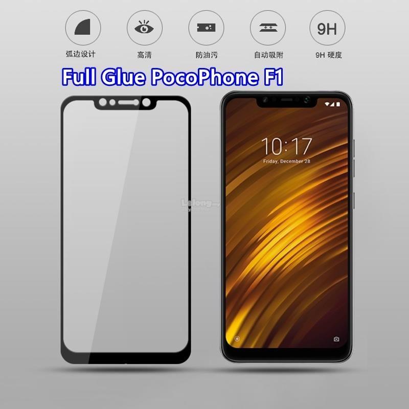Full Glue Xiaomi Poco F1 Pocophone F1 Tempered Glass Tempered Glass Glass Xiaomi