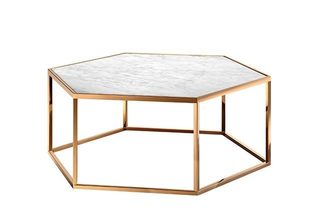 Custom Made Elle Hexagon Coffee Table In Melbourne For The Home - Hexagon marble coffee table