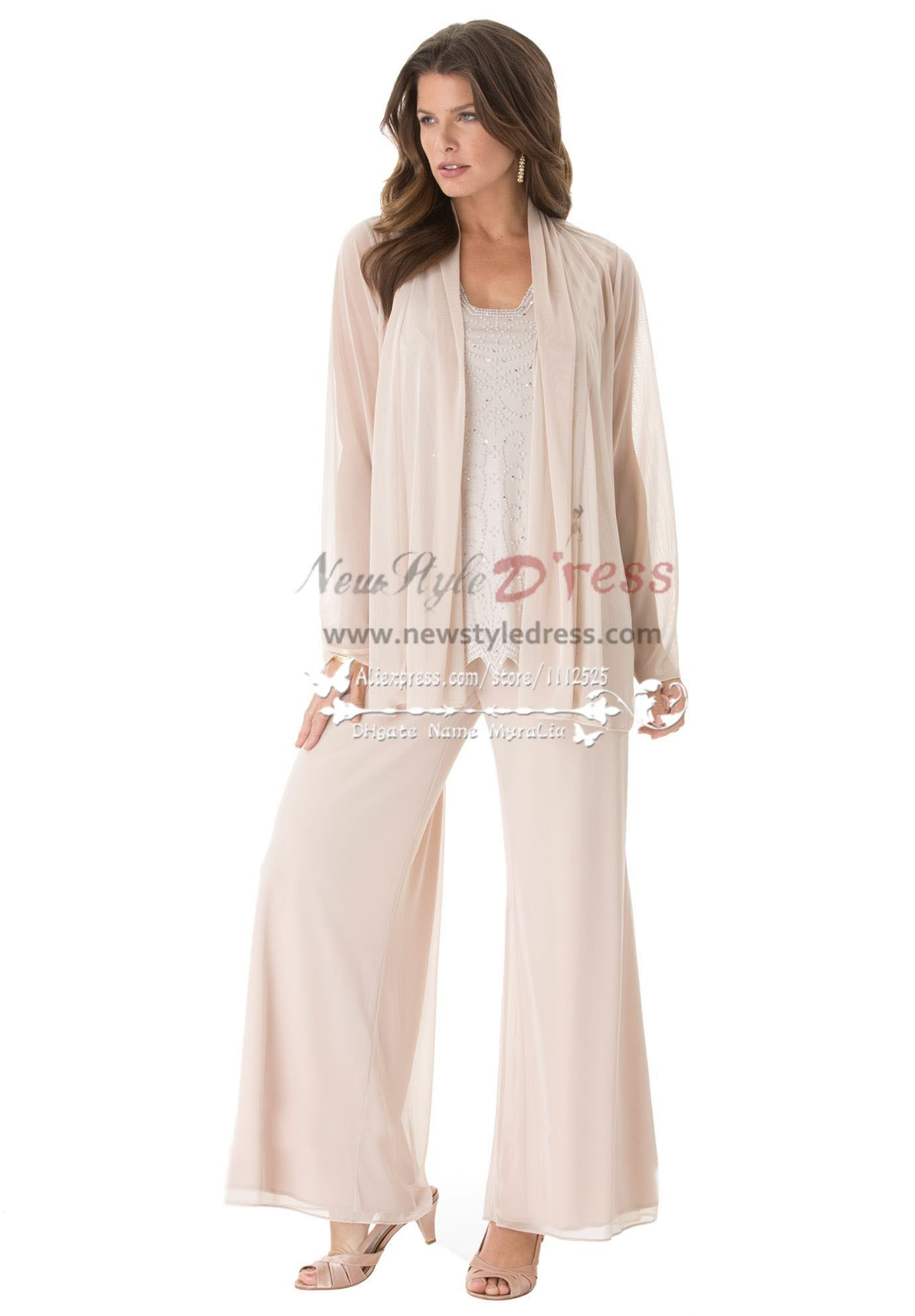5dff92e75054 Fashion mother of the bride pant suits Plus size loose women s outfit for  for Special Occasion