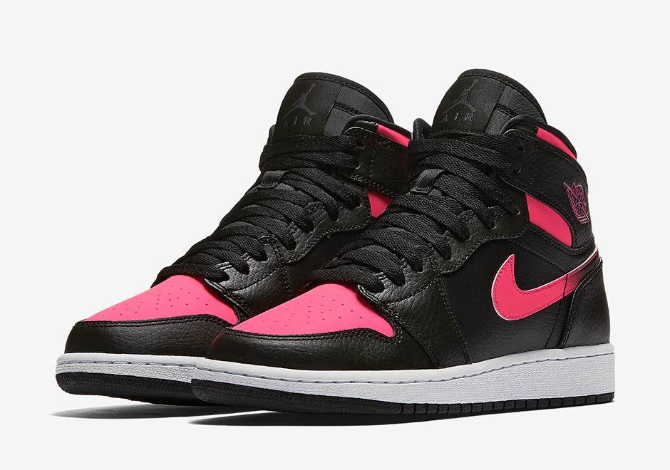 the pink and black jordans