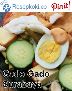 Resep Gado Gado Siram Surabaya Resep Masakan Makanan Dan Minuman Makanan