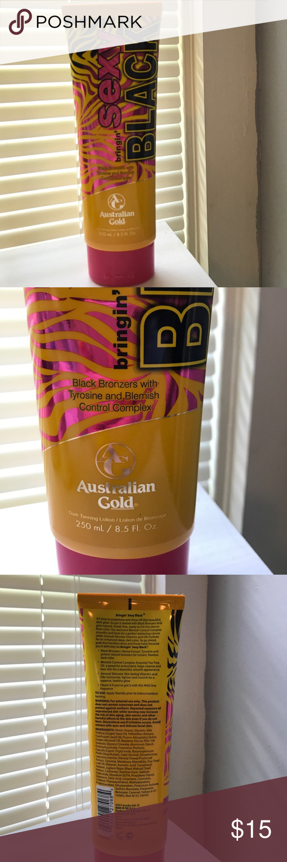 Tanning Lotion Used 2x Only To The Tanning Bed Australian Gold Tanning Lotion W Blemish Control Australian Gold Tanning Lotion Skin Care Acne Tanning Lotion