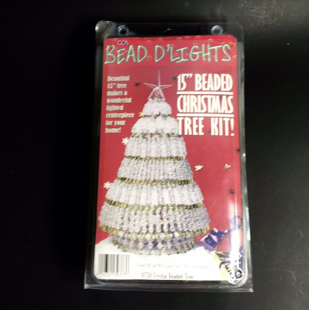 Bead D Lights 15 Crystal Beaded Christmas Tree Kit New In Box Beaddlights Christmas Tree Kit Plastic Christmas Tree How To Make Ornaments
