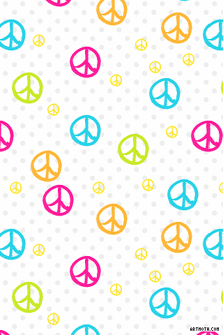 833 colorful peace signs and polka dots iphone wallpaperf 320 833 colorful peace signs and polka dots iphone voltagebd Image collections