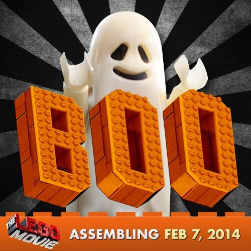 #LEGO Ghost wishes you a spooktacular #Halloween! #TheLEGOMovie