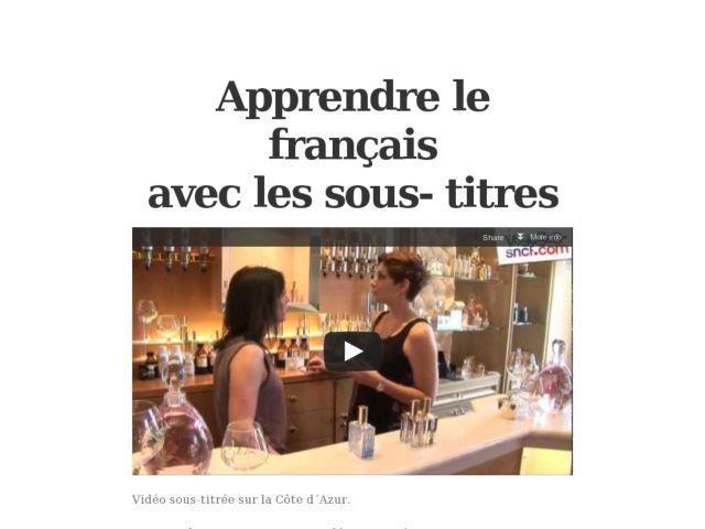 Apprendre Le Français Avec Les Sous Titres Schule