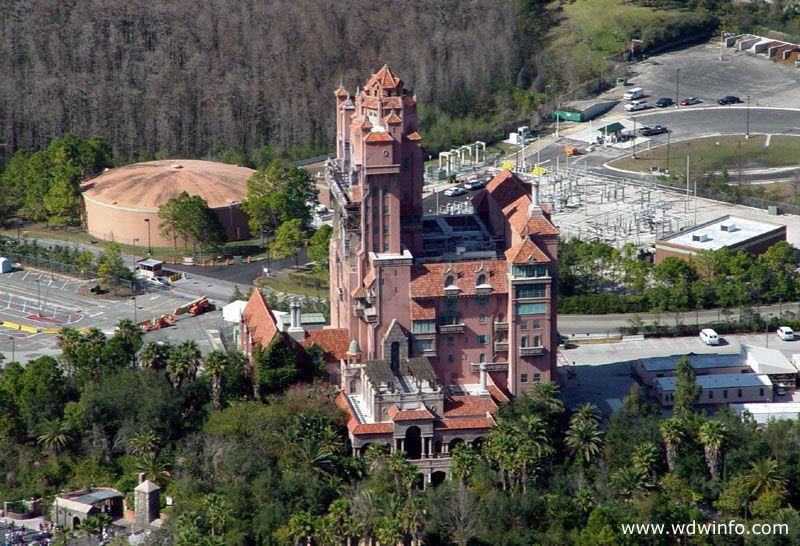 Tower Of Terror Aerial Photos Towersecrets Disney World Hollywood Studios Tower Of Terror Hollywood Studios Disney