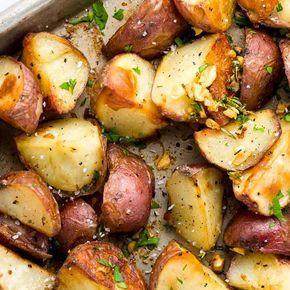 Garlic Roasted Potatoes with Rosemary - Jessica Ga