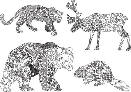 Coloriage Animaux Sauvages Mandala Animaux Animal Coloring Pages