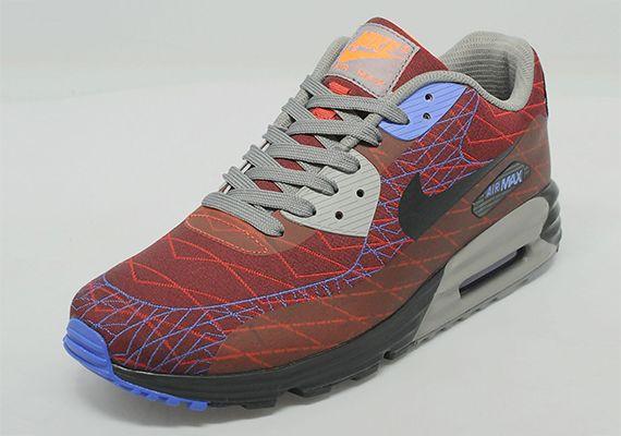 best website 4245a 64c27 Nike Air Max Lunar90 Jacquard – Red – Purple – Grey