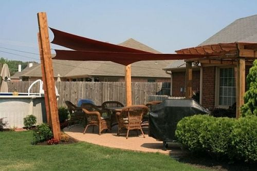 Sun shade & pergola, also shape of patio