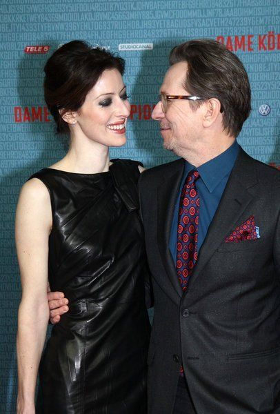 Gary Oldman and his wife in German premiere