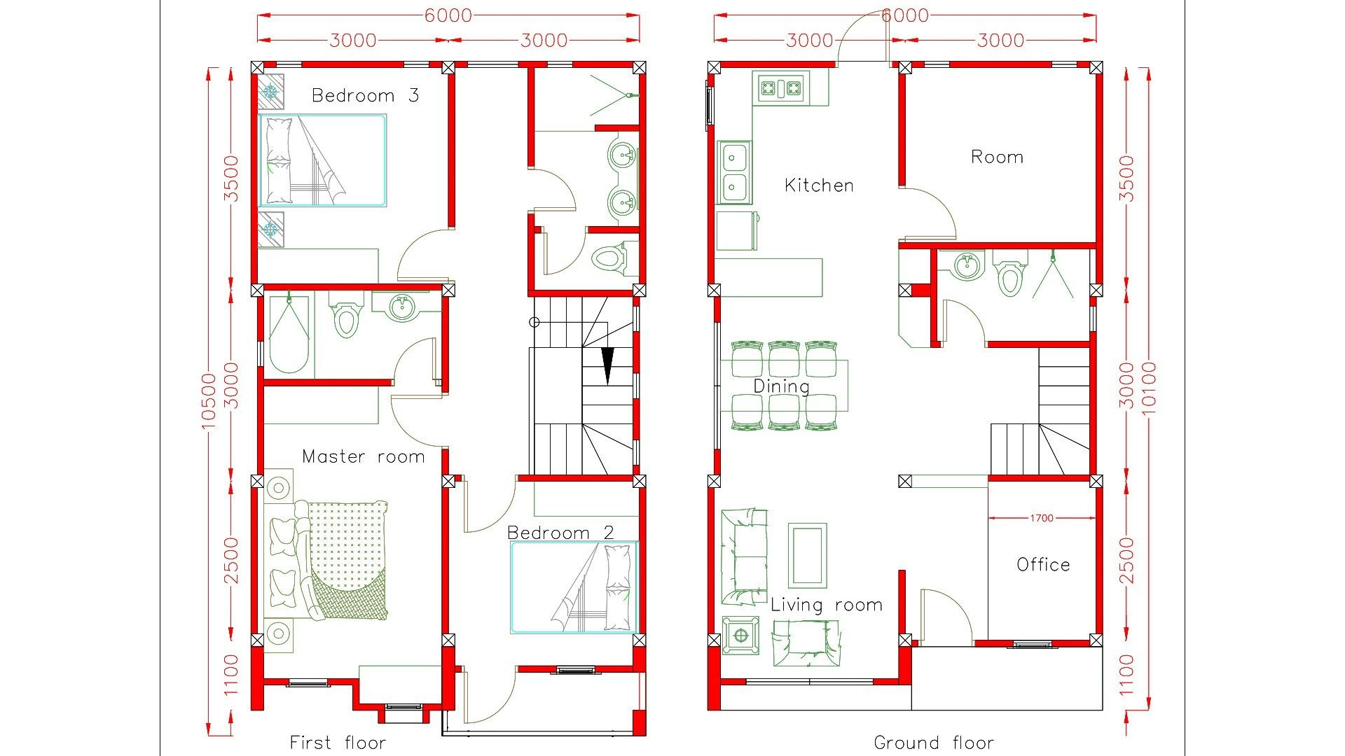 Home Design Plan 6x10m Home Design Plan Small House Design Plans 20x30 House Plans