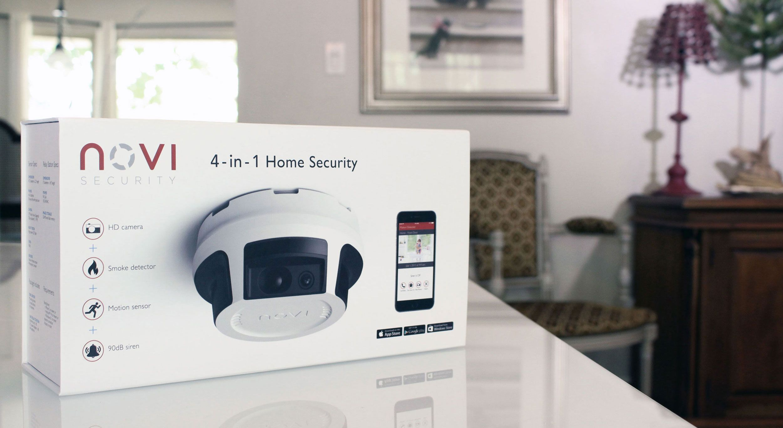A Powerful Innovative And Affordable 4 In 1 Home Security Solution With No Contracts And No Monthly Home Security Home Security Systems Smart Home Security
