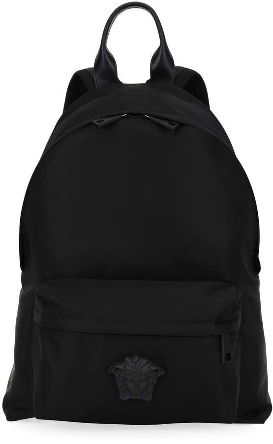 1175fc450847 Versace Men s Nylon Backpack w  Medusa Head Detail