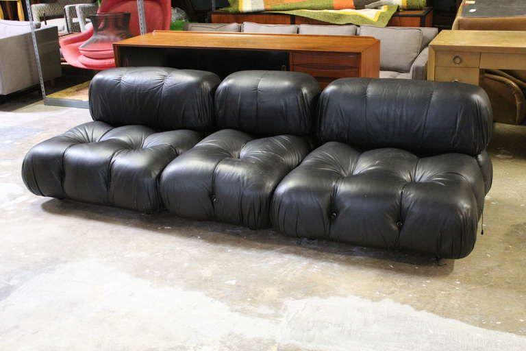 Mario Bellini Camaleonda Modular Sofa In Original Leather