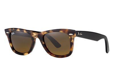Ray-Ban 0RB2140-ORIGINAL WAYFARER Tortoise; Black SUN $160