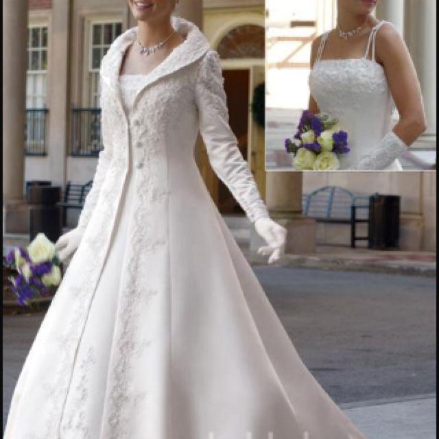Winter Wedding Dress. I Love The Jacket Not The Dress