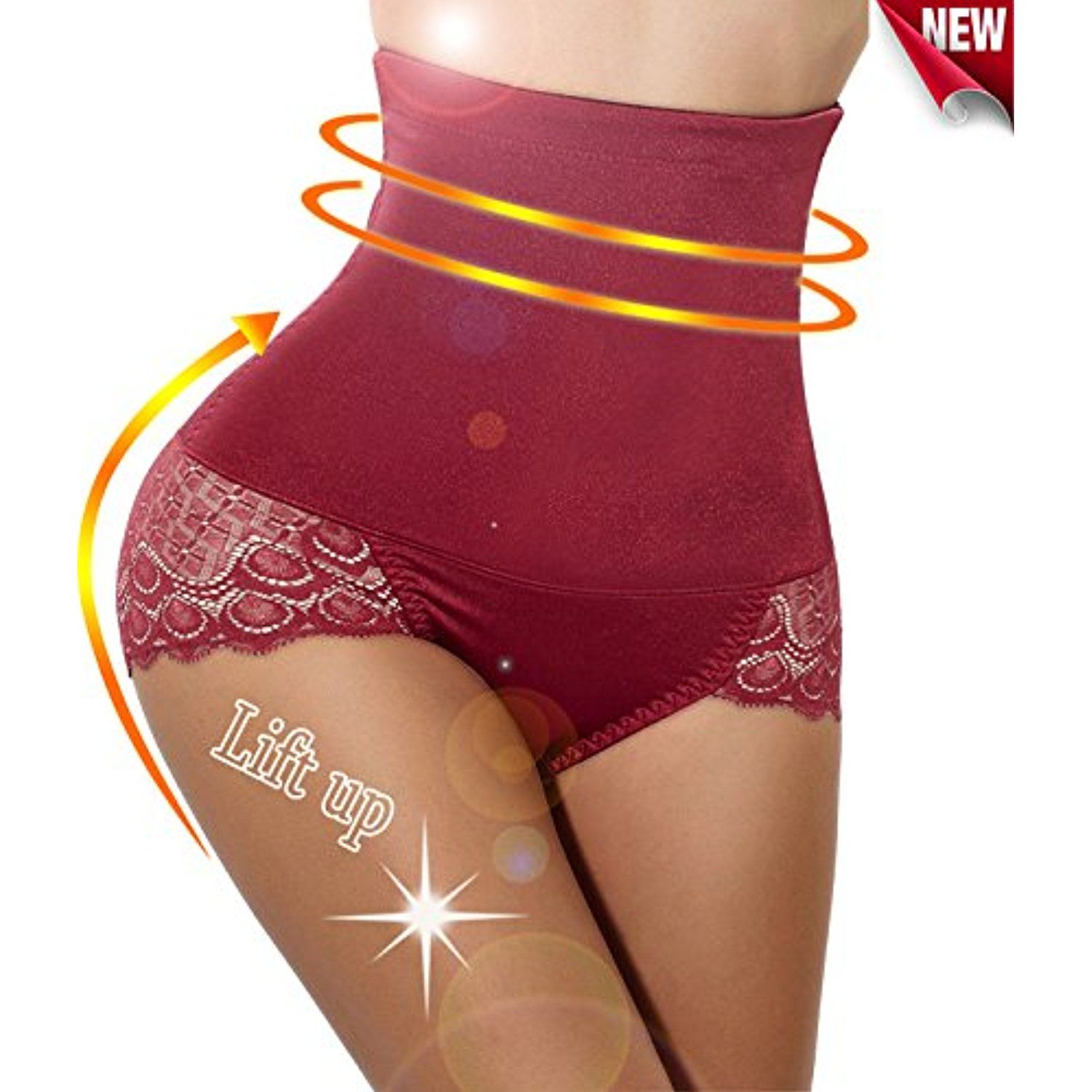 8a070a45d08 GAODI Lace Design High-waist Stretch Tummy Control Butt Lifter Panty  Underskirt     See this great product. (This is an affiliate link)  Shorts