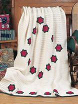 Holiday Star Crochet Afghan Pattern