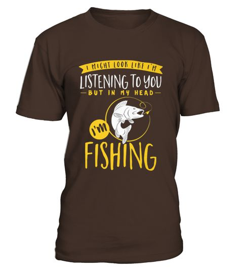 """# Fishing In My Head T Shirt .  Guaranteed safe and secure checkout via:Paypal   VISA   MASTERCARD   AMEX   DISCOVERTIP: SHARE it with your friends, buy 2 shirts or more and you will save on shipping.* HOW TO ORDER?1. Select style and color2. Click """"Green Button""""3. Select the size and quantity4. Enter shipping and billing information5. Done! Simple as that!"""