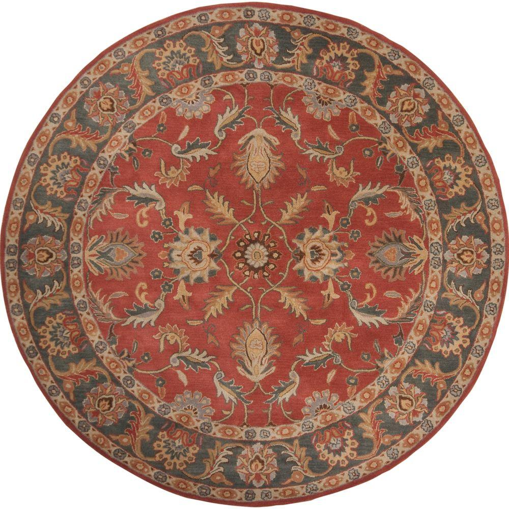 Artistic Weavers John Rust Red 10 Ft X 10 Ft Round Area Rug