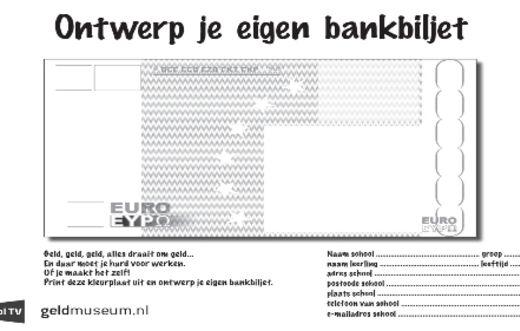 Ontwerp je eigen bankbiljet hoogbegaafdheid pinterest for Ontwerp je eigen kantoor