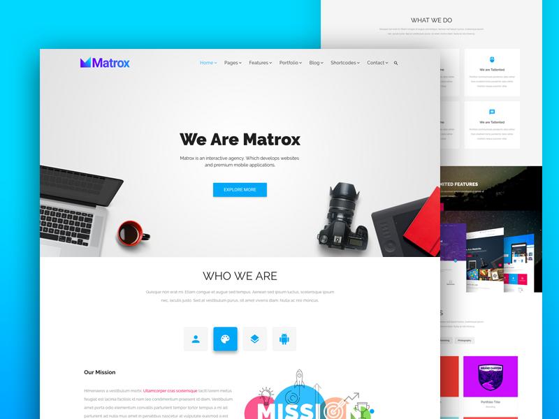 Matrox Material Design Web Design Templates