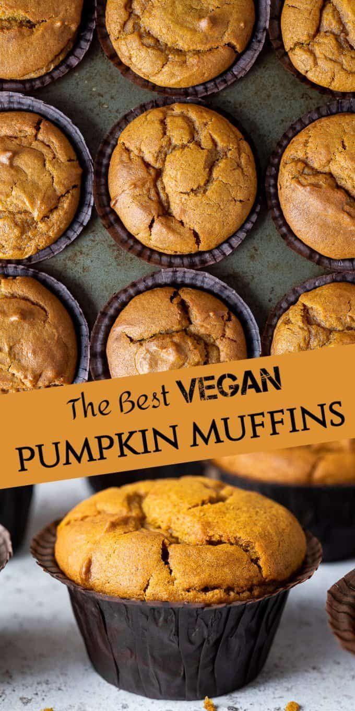 Vegan Pumpkin Muffins These Amazing Vegan Pumpkin Spice Muffins Are Moist Soft Flavourful And So Vegan Pumpkin Muffins Vegan Pumpkin Recipes Vegan Pumpkin