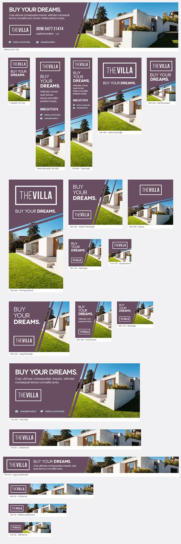 Real Estate Banners Real Estate Banner Real Estate Advertising Banner Ads Design