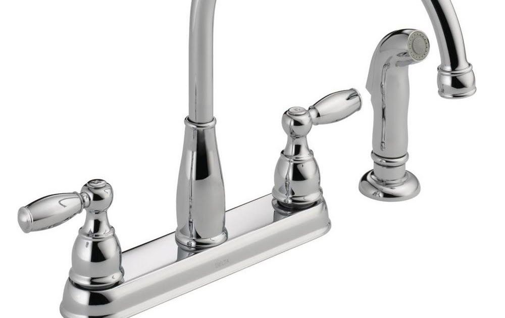 Delta Home Depot Kitchen Faucets Delta Foundations 2 Handle Standard Kitchen Faucet With Side Spraye Kitchen Faucet Kitchen Faucet Repair Delta Kitchen Faucet