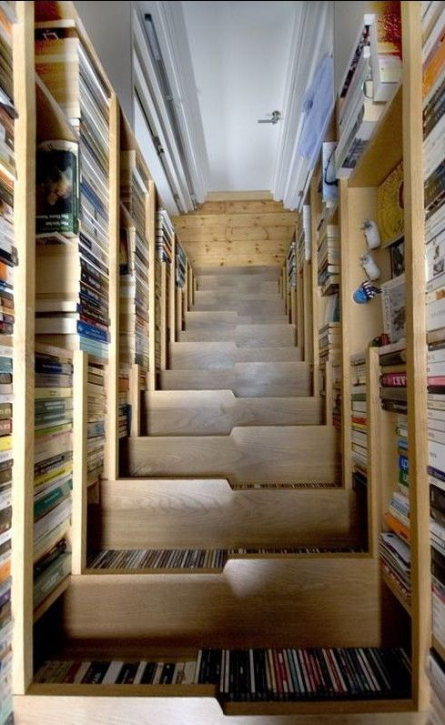 Another view of the bookcase staircase. | Decoración | Pinterest ...