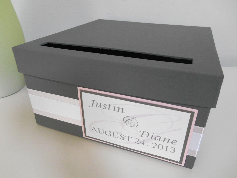 Modern Wedding Card Box Bridal Shower Reception Custom Handmade