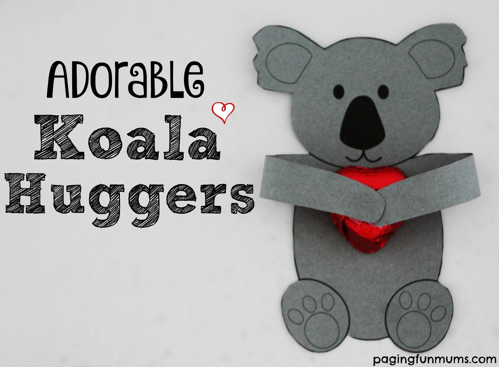 Adorable koala huggers koala craft crafts for kids koala