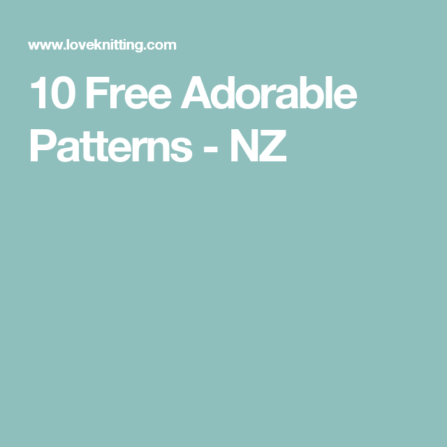 10 Free Adorable Patterns Nz Knitting Pinterest Needle Book