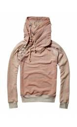 SCOTCH & SODA   sailor lace up sweat with double hood