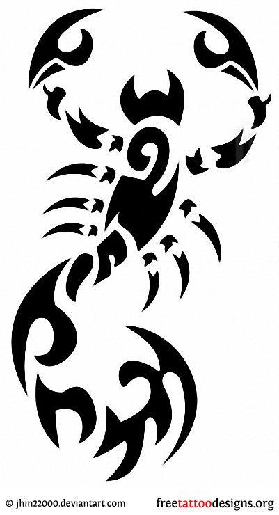 Tribal Scorpion Tattoo Design Scorpion Tattoo Tribal Tattoos Scorpio Tattoo