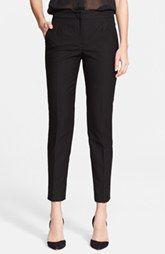 Dolce&Gabbana Cotton Blend Piqué Slim Ankle Pants