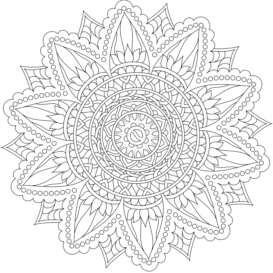 Pin by monday mandala on Printable Mandalas to Color