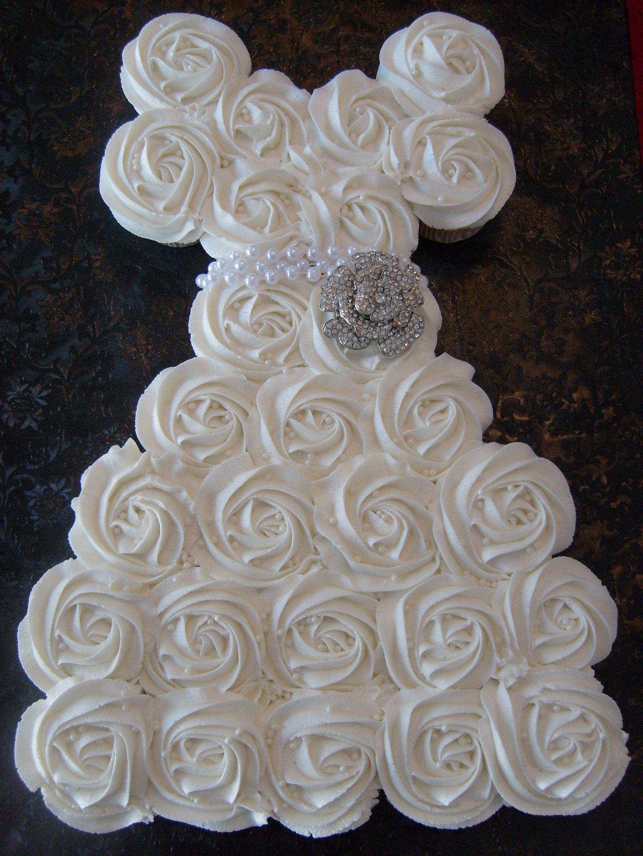 Wedding Wedding Dress Cupcake Cake 27 cupcakes create this wedding dress shower cake baking bridal cupcake pull apart cake