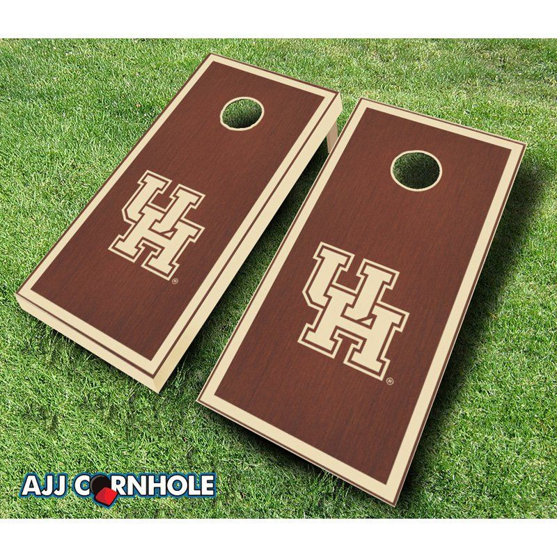AJJ Cornhole University of Houston Stained Cornhole Set Rosewood - 109-HOUSTON ROSEWOOD