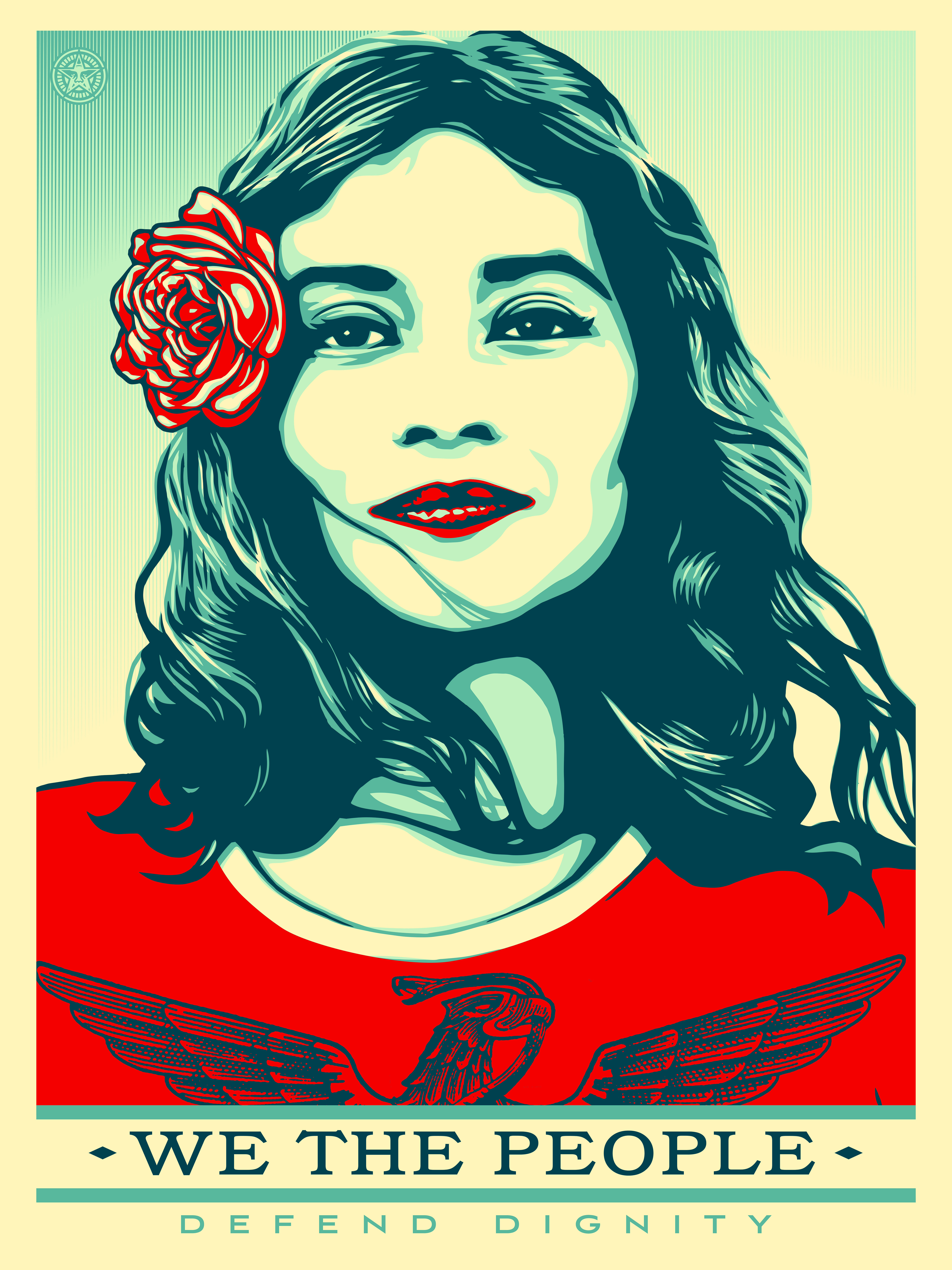 Womens March on Washington, We the People, Amplifier Foundation, Shepard Fairey, Hope,  Obama Hope,