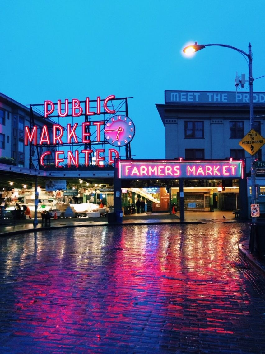 Pike place market in seattle washington photo by for Local wallpaper shops