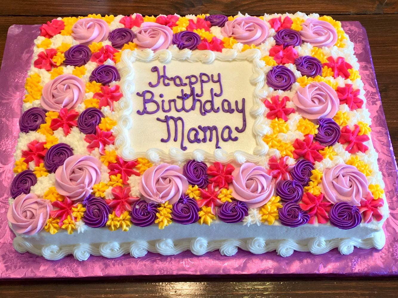 Colorful flowers birthday cake Cakes by Me Pinterest Flower